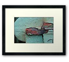 Sea Green Abstract Framed Print