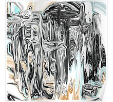 Chrome People Abstract Design Poster
