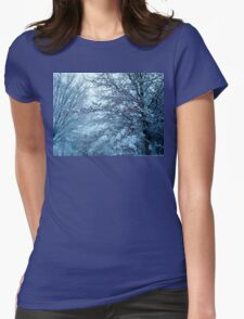 A WINTERS DAY Womens Fitted T-Shirt