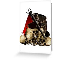 Discards Of A Pirate Horde Greeting Card