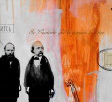 the day that Dostoevsky met Flaubert Sticker
