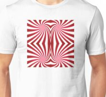 Candy Cane Abstract Unisex T-Shirt