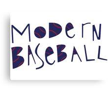 Modern Baseball Logo Canvas Print