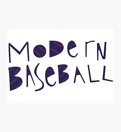 Modern Baseball Logo Photographic Print
