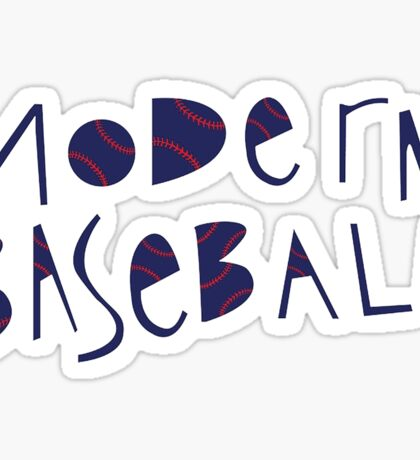 Modern Baseball Logo Sticker