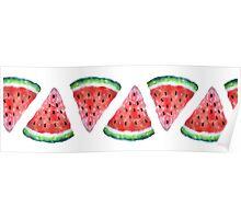 Watercolor Watermelon Poster