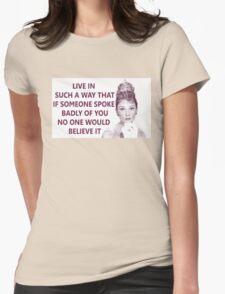 Good Girls - Audrey Hepburn Womens Fitted T-Shirt