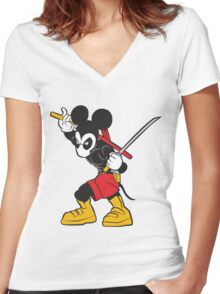 DeadMouse Women's Fitted V-Neck T-Shirt