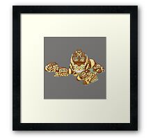 Cat Bus and The Kittens Car Framed Print