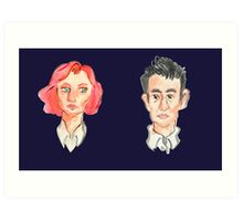 Agent Scully and Agent Mulder Art Print