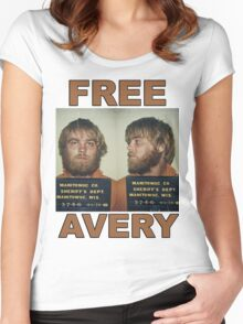 FREE STEVEN AVERY Women's Fitted Scoop T-Shirt