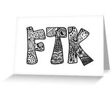 For The Kids FTK Zentangle Greeting Card