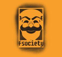 fsociety logo - black spray painted by DesignComa