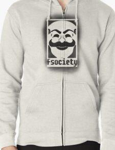 fsociety logo - black spray painted T-Shirt