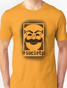fsociety logo - black spray painted Unisex T-Shirt