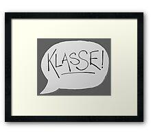 KLASSE Framed Print