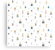 Seamless business social network pattern Canvas Print