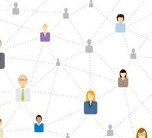 Seamless business social network pattern Sticker