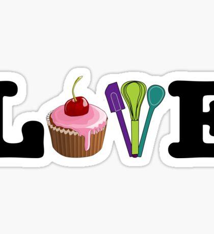 Love Baking Sticker