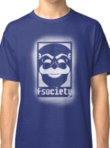 fsociety logo - white spray painted Classic T-Shirt