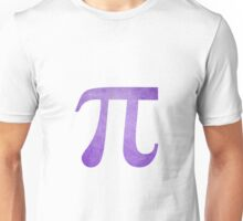 Purple Pi Symbol Unisex T-Shirt