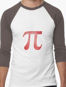 Red Pi Symbol Men's Baseball ¾ T-Shirt