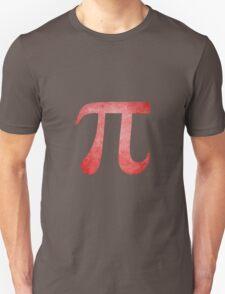Red Pi Symbol Unisex T-Shirt