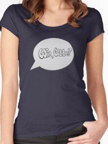 WIE BITTE? Women's Fitted Scoop T-Shirt