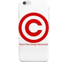 Non-Free Image Removed Copyright Infringement iPhone Case/Skin