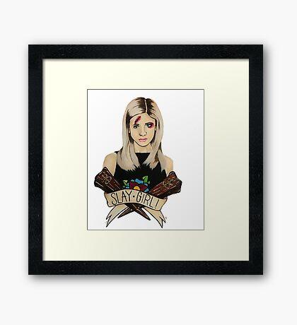 Slay Girl Framed Print