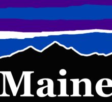 Maine Midnight Mountains Sticker
