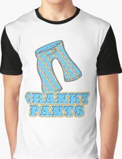Funny Cranky Pants Design Graphic T-Shirt
