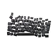 dyslexia black keyboard Photographic Print