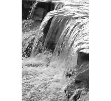 Taugahannock Creek, Ithaca, NY, black & white Photographic Print