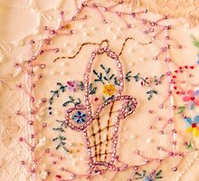 Vintage Lampshade Panel Detail by Sandra Foster
