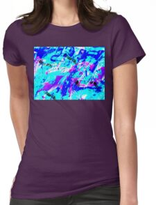 Ocean Abstract - Swimming Against the Tide Womens Fitted T-Shirt