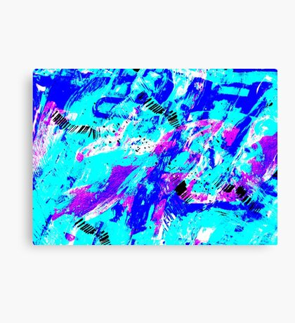 Ocean Abstract - Swimming Against the Tide Canvas Print