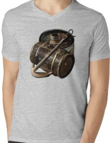 Barrels Awaiting To Board Mens V-Neck T-Shirt