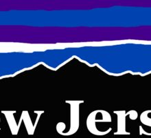 New Jersey Midnight Mountains Sticker