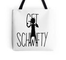 Get Schwifty Rick Silhouette Tote Bag