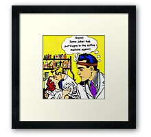 Doctors, nurses, love, viagra, pop art hospital romance Framed Print