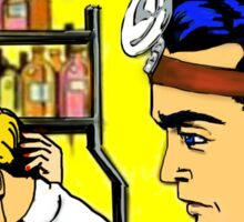 Doctors, nurses, love, viagra, pop art hospital romance Sticker