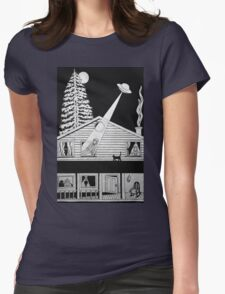 Alien Abduction Womens Fitted T-Shirt