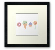 Sweet Pastel Dreams Framed Print
