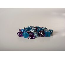 Silver Blue Purple Dice Photographic Print