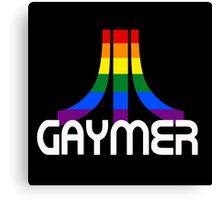 Retro Rainbow Gamer GAYmer Canvas Print
