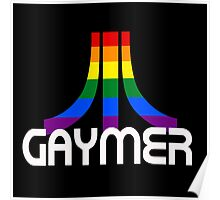 Retro Rainbow Gamer GAYmer Poster