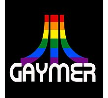 Retro Rainbow Gamer GAYmer Photographic Print