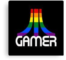 Retro Rainbow Gamer Canvas Print