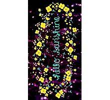 Hello Sunshine Glitter Photographic Print